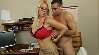Oral sex lesson with my hot blonde teacher