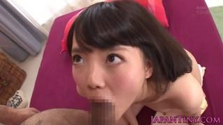 Facialized japanese babe plays rusty trombone