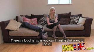 FakeAgentUK Sweet blonde desperate to get back in porn