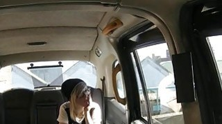 Cute blond with glasses fucked by the driver to off her fare