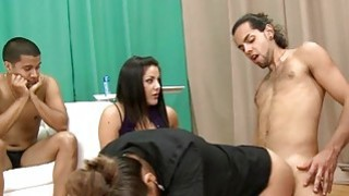 Absolutely naked dude bangs pussy of dressed woman Thumbnail