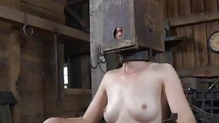 Bound up serf acquires pleasuring her naughty twat