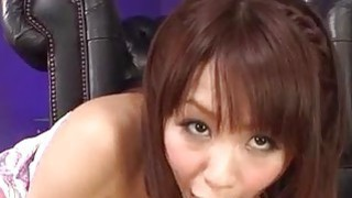 Maika plays with pussy in solo before sucking a big dick Thumbnail
