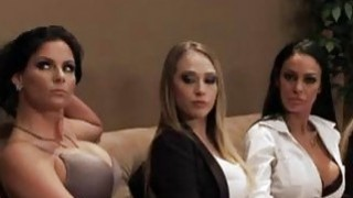 Fantastic orgy fucking with busty secretaries