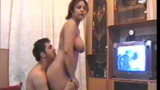 Busty amateur Iranian housewife gets drilled in a homemade video