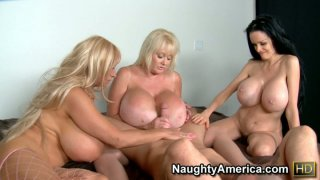 Three wild housewives get ready to please one cock Thumbnail